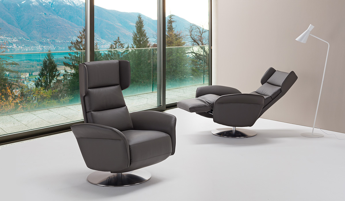 Relax In Poltrona.Amsterdam Swivel Relax Armchair
